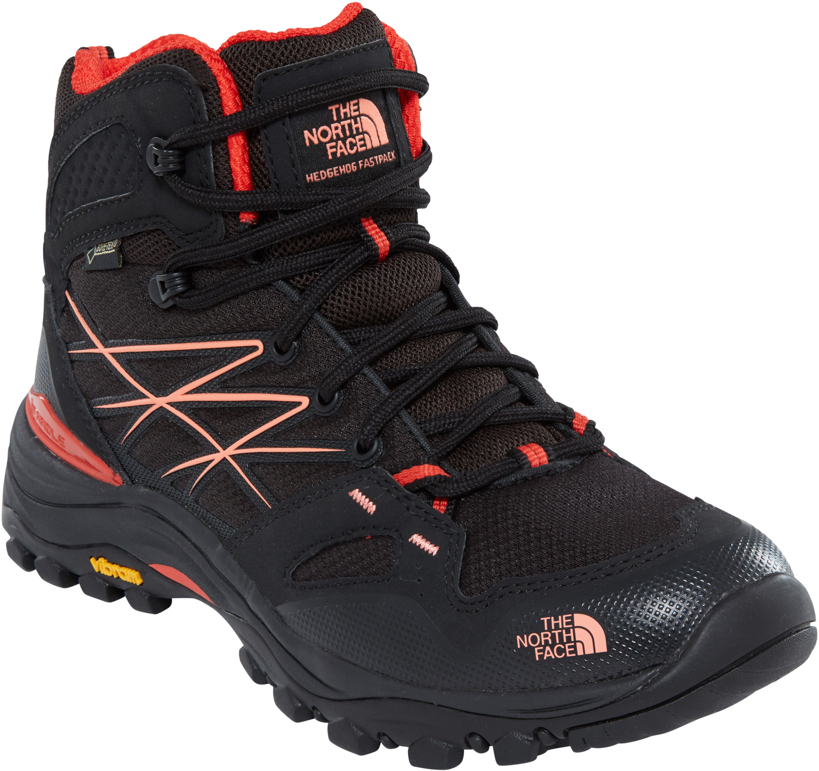 0646564c The North Face Hedgehog Fastpack Mid GTX Calzado Mujer, tnf black/fire  brick red